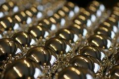 Helft-gebeëindigd van Kerstmis-boom ballen Royalty-vrije Stock Afbeeldingen