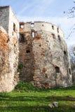 Helft-geruïneerd Sieniawski-Kasteel 1534 jaar in Berezhany Stock Foto