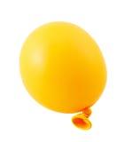 Helft-Half-inflated geïsoleerde luchtballon Stock Afbeelding