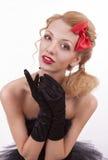 Helft-lengte portret van meisje in het beeld van de pop Royalty-vrije Stock Foto