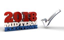 2018 helft van het trimesterverkiezingen vector illustratie
