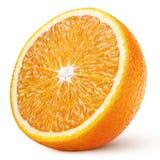 Helft van oranje die citrusvruchten op wit wordt de geïsoleerd stock afbeelding