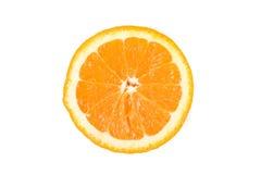 Helft van sinaasappel die op witte achtergrond wordt de geïsoleerde Royalty-vrije Stock Afbeelding