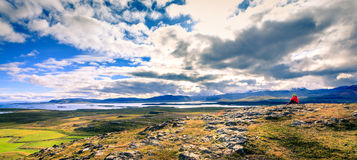 Helgafell山 库存照片