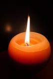 Helgdagsafton för nya år för brandstearinljus Royaltyfri Fotografi