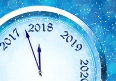 Helgdagsafton 2018 för ` s för nytt år vektor illustrationer