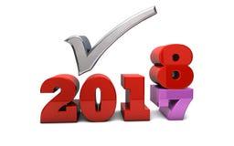 Helgdagsafton för ` s för nytt år 2018 Vektor Illustrationer