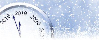 Helgdagsafton 2019 för ` s för nytt år stock illustrationer