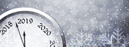 Helgdagsafton 2019 för ` s för nytt år vektor illustrationer