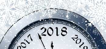 Helgdagsafton 2018 för ` s för nytt år stock illustrationer