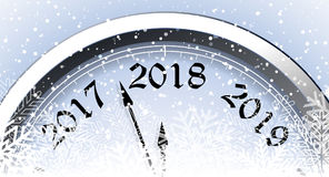 Helgdagsafton 2018 för ` s för nytt år royaltyfri illustrationer