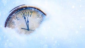 Helgdagsafton för konst 2017 lyckliga nya år Arkivbild