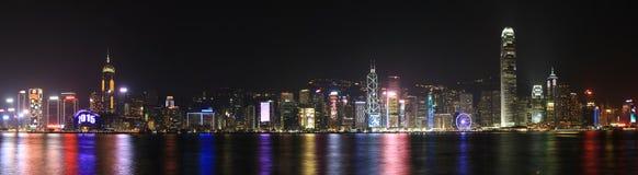 Helgdagsafton Hong Kong 2015 för nytt år Arkivfoton