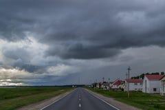 Helgdagsaftonen av stormen Arkivbild