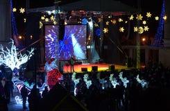 Helgdagsaftonkonsert för nytt år Arkivfoton