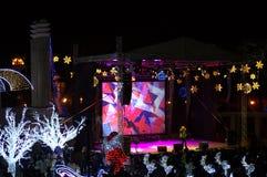 Helgdagsaftonkonsert för nytt år Arkivbild