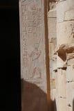 Helgedom av järnekar i tempeldrottningen Hatsheput arkivbild