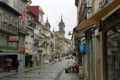 Helgedomkorskyrka eller Igreja de Santa Cruz i mitten av Braga Arkivfoton