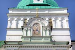 Helgedomportar och porttorn St Sergius Lavra för helig Treenighet Arkivfoton
