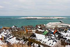 Helgoland и дюна в зиме Стоковые Фотографии RF