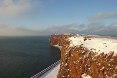 Helgoland. The cliffs of Helgoland in winter rn Royalty Free Stock Images