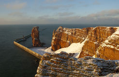 Helgoland. The cliffs of Helgoland in winter rn Stock Images