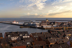 Helgoland city harbor from hill Stock Images
