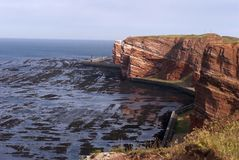 Helgoland Coastline Royalty Free Stock Photography
