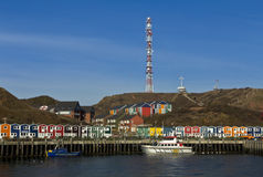 Helgoland fishermen's wharf Royalty Free Stock Images
