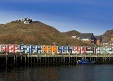Helgoland fiskares hamnplats Royaltyfria Bilder