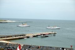 Helgoland Harbour Royalty Free Stock Photos