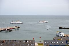 Helgoland Harbour Royalty Free Stock Photography