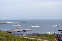 Helgoland Harbour Stock Photo