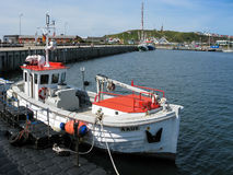 Helgoland harbour in Germany Stock Images