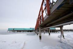 Helgoland im Winter Stockfotografie