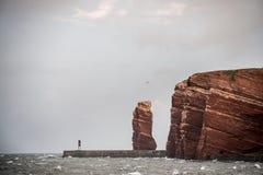 Helgoland-Insel Deutschland Stockbild
