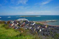 Helgoland - isla en Alemania, hoteles Imágenes de archivo libres de regalías