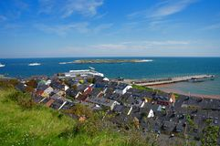 Helgoland - island in Germany, hotels. Helgoland - German paradise island in the north sea, hotels Royalty Free Stock Images