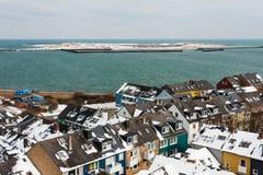 Helgoland och dyn i vinter Fotografering för Bildbyråer