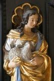 Helgon Agnes royaltyfria bilder
