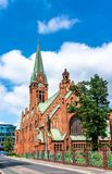 Helgon Andrew Bobola Church i Bydgoszcz, Polen arkivfoto