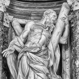 Helgon Andrew Statuary - Rome royaltyfria bilder