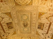 Helgon Angel Castle Murals royaltyfri fotografi