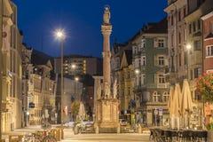 Helgon Anne Column i Innsbruck, Österrike. Fotografering för Bildbyråer