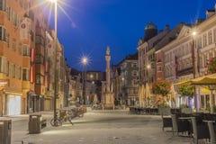Helgon Anne Column i Innsbruck, Österrike. Arkivbilder