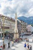 Helgon Anne Column i Innsbruck, Österrike. Royaltyfria Bilder