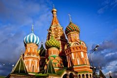 Helgon Basil Cathedral i Moskva Arkivbild