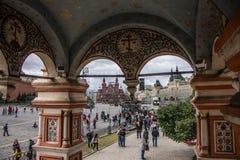 Helgon Basil Cathedral, röd fyrkant Fotografering för Bildbyråer