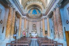 Helgon Biagio Church, Anguillara Sabazia, Rome landskap, Lazio Italien Royaltyfri Foto