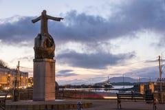Helgon Brendan Statue Bantry Royaltyfria Foton